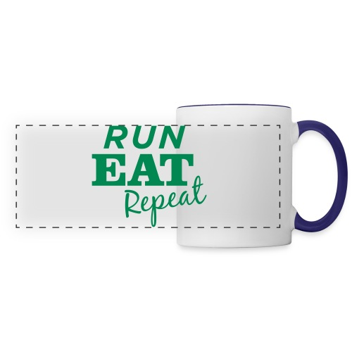 Run Eat Repeat buttons medium - Panoramic Mug
