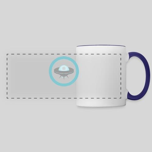 ALIENS WITH WIGS - Small UFO - Panoramic Mug