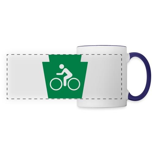 PA Keystone w/Bike (bicycle) - Panoramic Mug