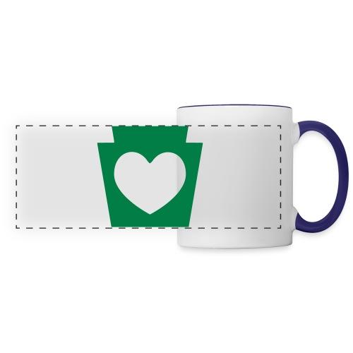 Love/Heart PA Keystone - Panoramic Mug