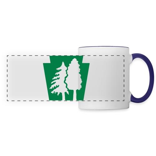 PA Keystone w/trees - Panoramic Mug