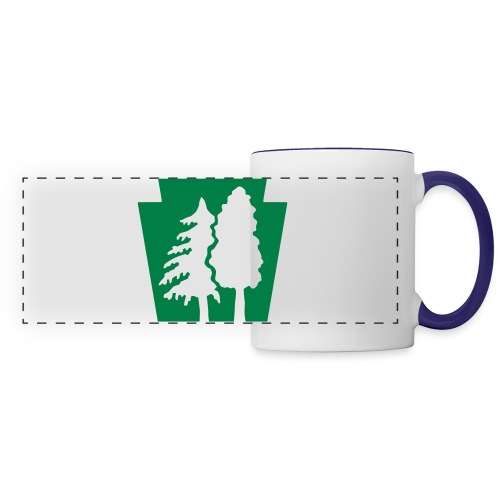 PA Keystone w/trees - Panoramic Mug
