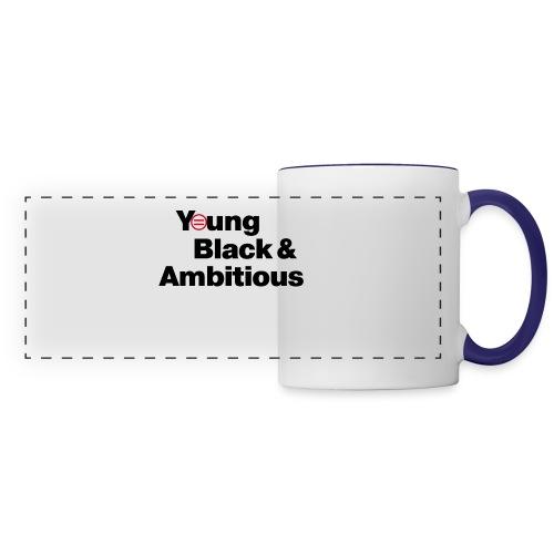YBA white and gray shirt - Panoramic Mug