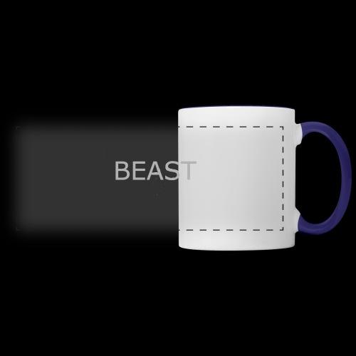 100% beast logo white - Panoramic Mug