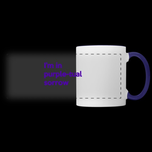 Purple-tual sorrow - Panoramic Mug