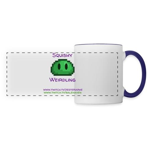 Green Squishy with addresses & white splash - Panoramic Mug