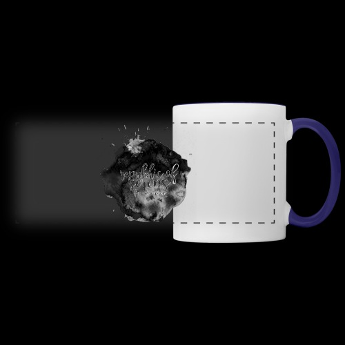 ROS FINE ARTS COMPANY - Black Aqua - Panoramic Mug