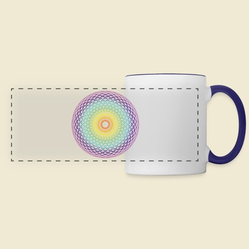 Torus Yantra Hypnotic Eye rainbow - Panoramic Mug