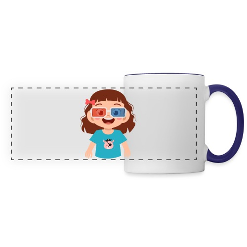 Girl red blue 3D glasses doing Vision Therapy - Panoramic Mug