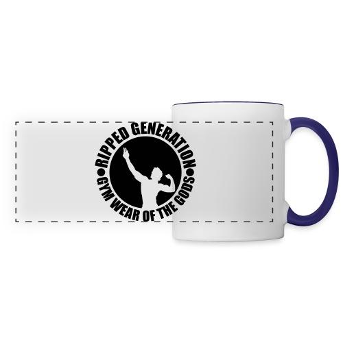 Ripped Generation Gym Wear of the Gods Badge Logo - Panoramic Mug