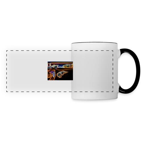 Melted Neon Dali - Panoramic Mug