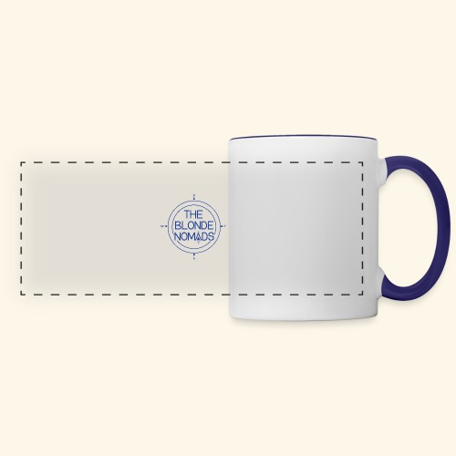 The Blonde Nomads Blue Logo - Panoramic Mug