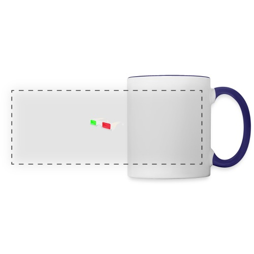 3D red green glasses - Panoramic Mug