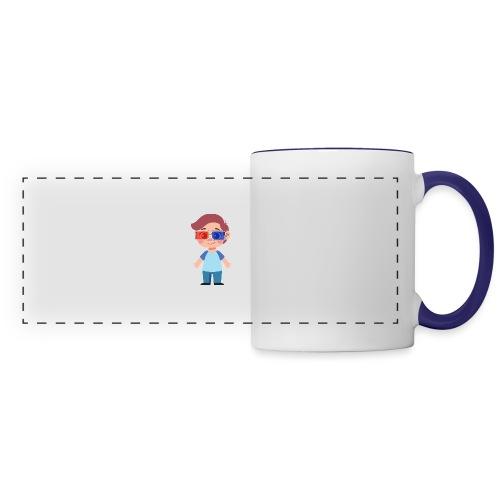 Boy with eye 3D glasses - Panoramic Mug