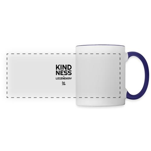 KINDNESS IS LEGENDARY BLACK - Panoramic Mug