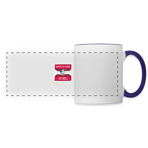 women are strong as hell - Panoramic Mug