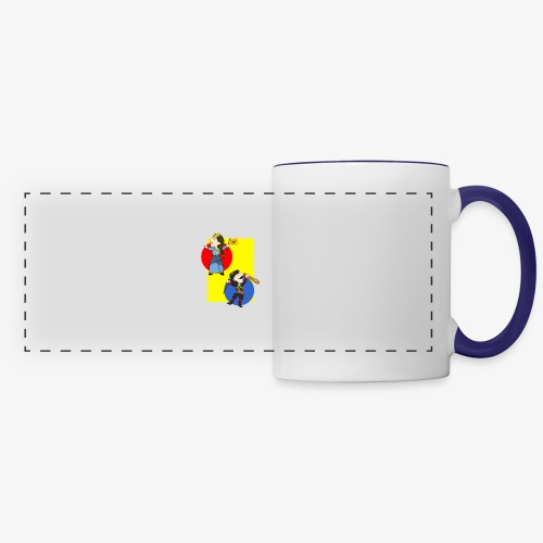 Cartoon - Pontios/lyra & Pontia/flag - Panoramic Mug
