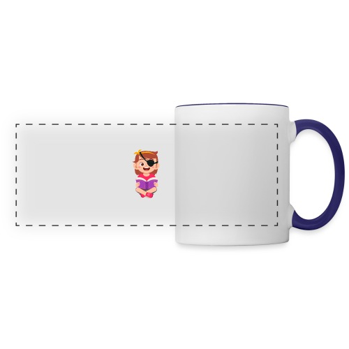 Little girl with eye patch - Panoramic Mug