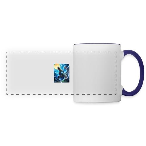 Blue lighting dragom - Panoramic Mug