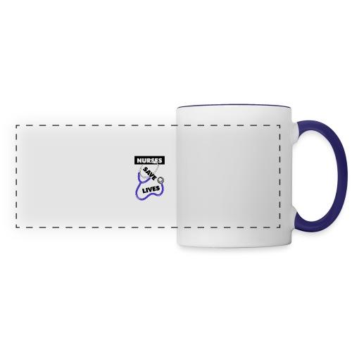 Nurses save lives purple - Panoramic Mug