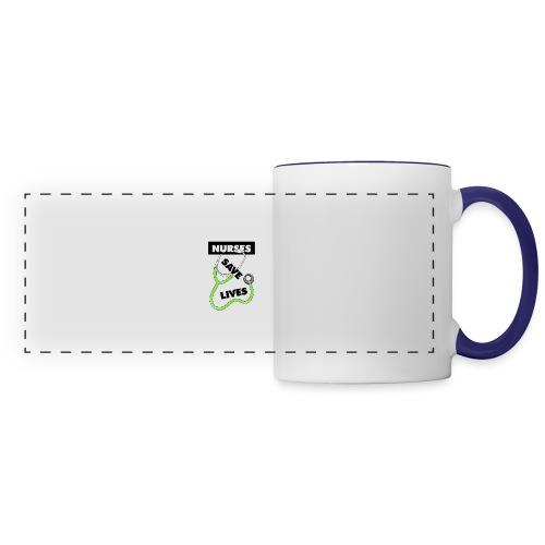 Nurses save lives green - Panoramic Mug