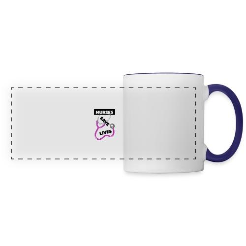 Nurses save lives pink - Panoramic Mug