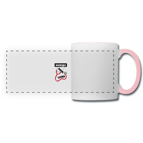 Nurses save lives red - Panoramic Mug