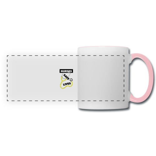 Nurses save lives yellow - Panoramic Mug