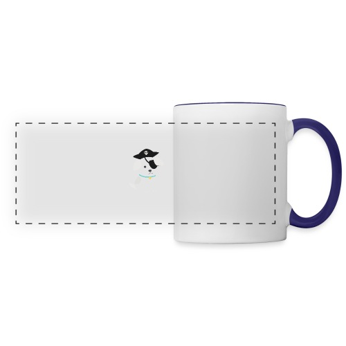 Dog with a pirate eye patch doing Vision Therapy! - Panoramic Mug
