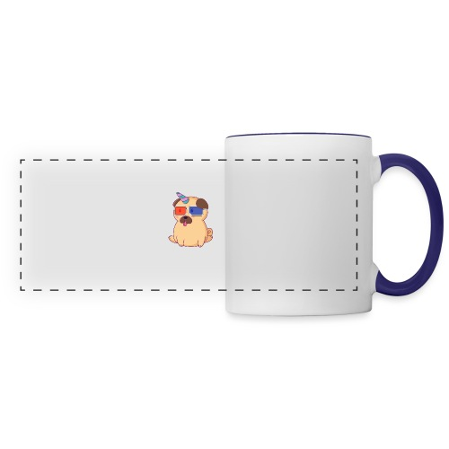 Dog with 3D glasses doing Vision Therapy! - Panoramic Mug