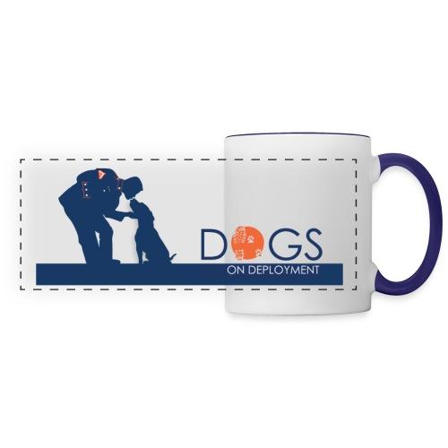 Marine & His Dog - Panoramic Mug