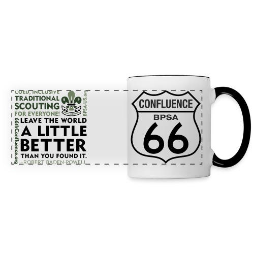 66thConfluenceSign outlines png - Panoramic Mug
