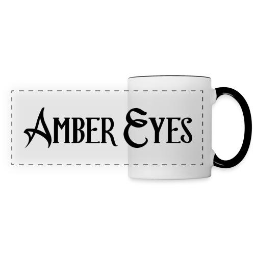 AMBER EYES LOGO IN BLACK - Panoramic Mug
