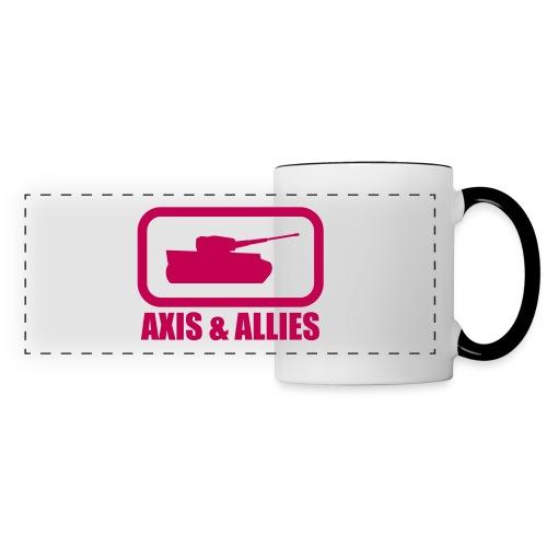 Tank Logo with Axis & Allies text - Multi-color - Panoramic Mug
