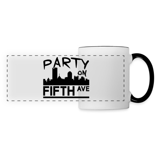 Party on Fifth Ave - Panoramic Mug
