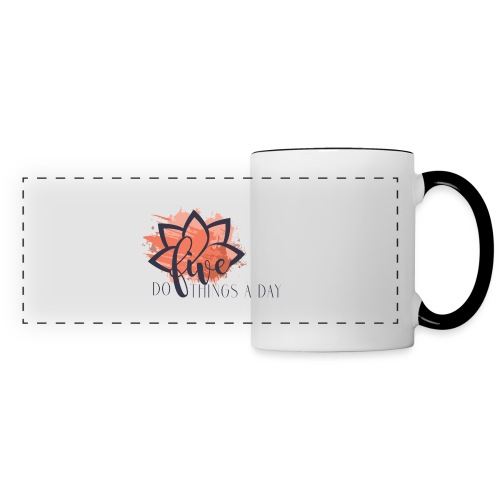 Do Five Things A Day Logo - Panoramic Mug