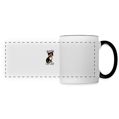 Badass cat lady - Panoramic Mug