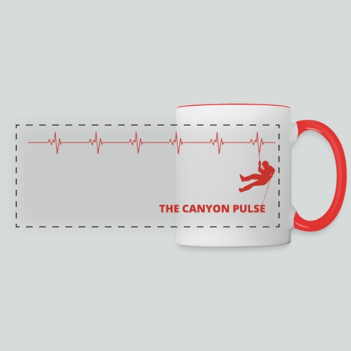 THE CANYON PULSE-on light front-1 sided - Panoramic Mug