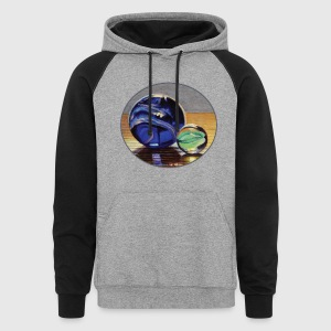 Blue and Green Marbles - Colorblock Hoodie