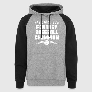 This Girl Is A Fantasy Baseball Champion - Colorblock Hoodie