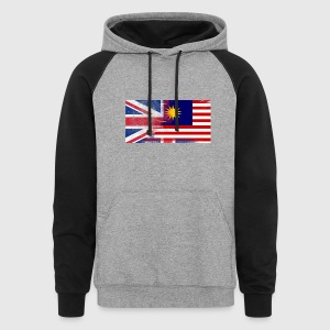 British Malaysian Half Malaysia Half UK Flag - Colorblock Hoodie