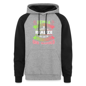 Single Mom Can Do Almost Anything Shirt - Colorblock Hoodie