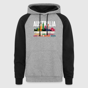 AUSTRALIA WHERE LIFE BEGINS SHIRT - Colorblock Hoodie