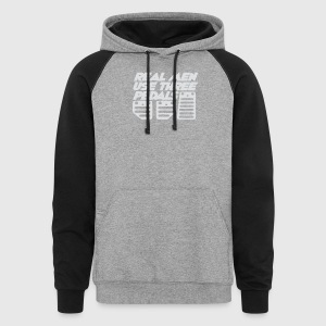 Real men use three pedals - Colorblock Hoodie