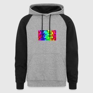 cubic rainbow wallpaper for 2560x1440 62 384 - Colorblock Hoodie