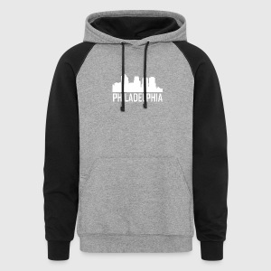 Philadelphia Pennsylvania City Skyline - Colorblock Hoodie