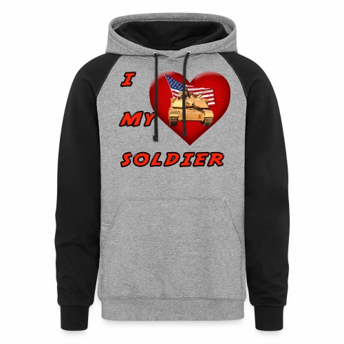 I Heart my Soldier - Colorblock Hoodie
