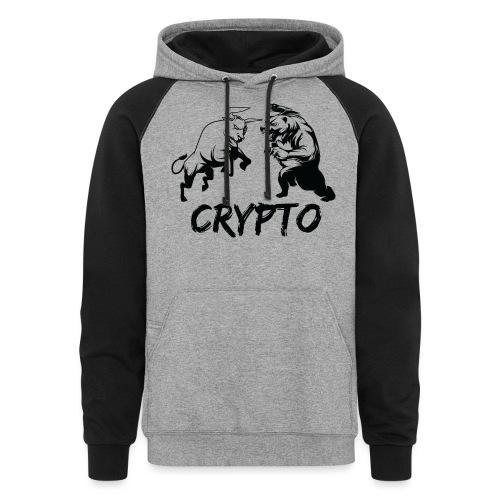 CryptoBattle Black - Colorblock Hoodie