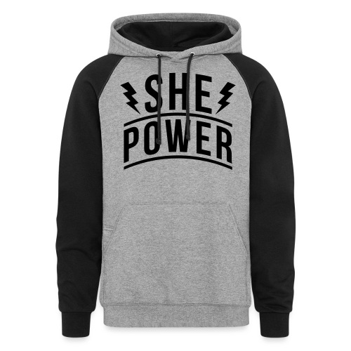 She Power - Unisex Colorblock Hoodie