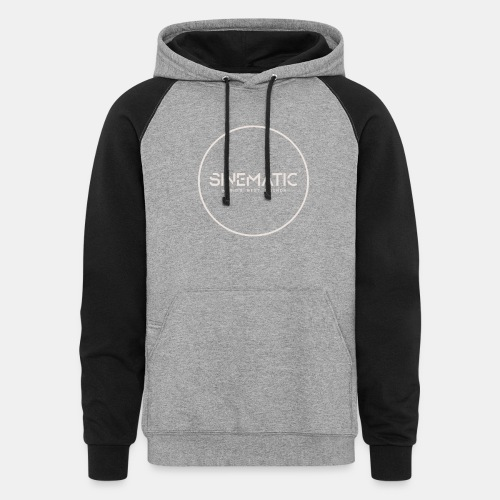 Logo Sinematic White on Black - Unisex Colorblock Hoodie